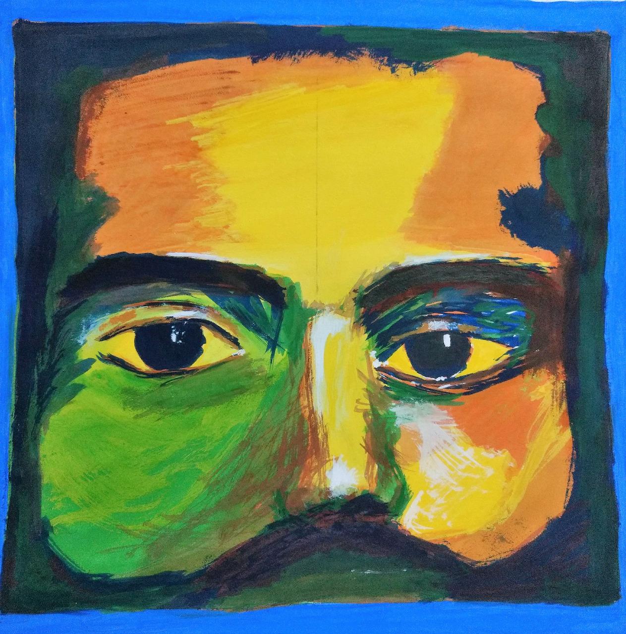 Bob Marley face painting by Ankita Pisat