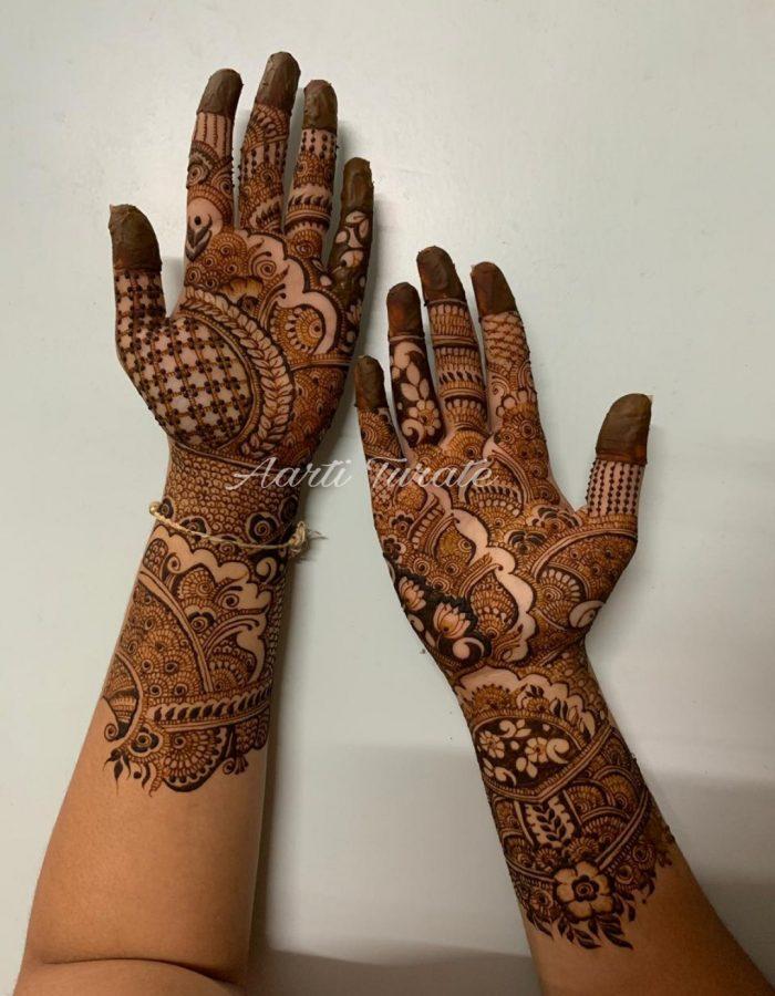 Both Hands Mehendi Art 2 by Aarti Turate