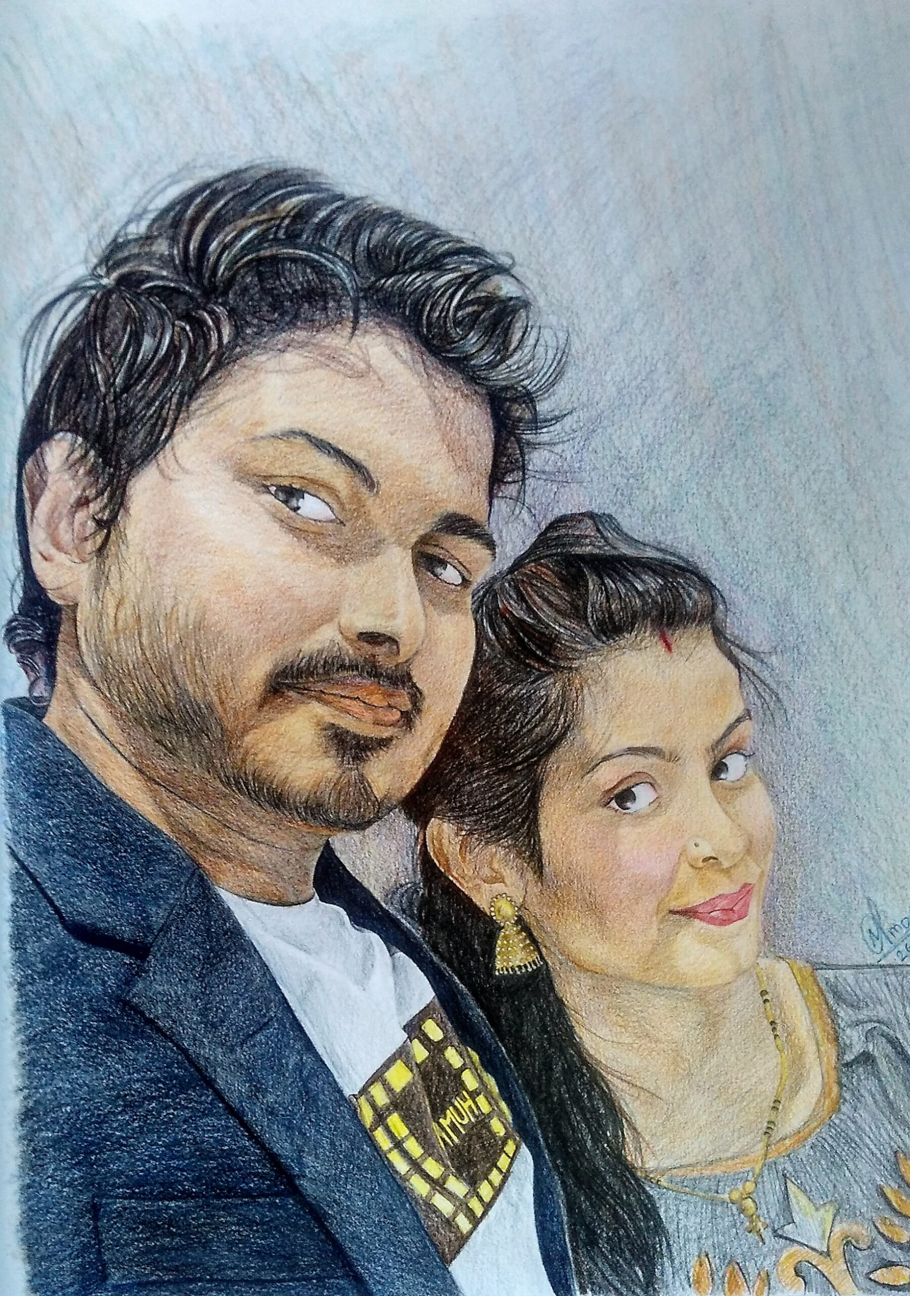 Couples Painting by Nitish More