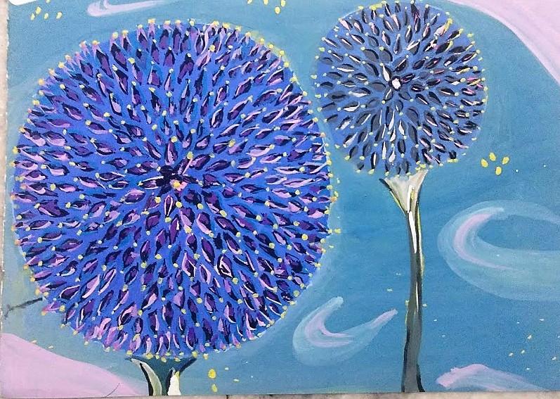 Dandlelions Flower Painting by Ankita Pisat