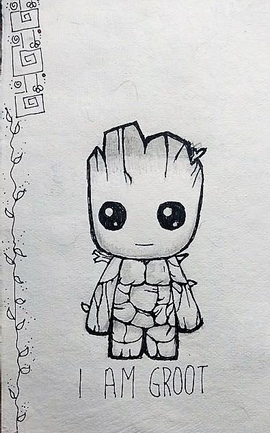 I am groot mini sketch by Ankita Pisat