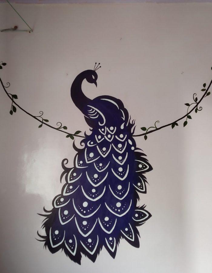 Peacock Mehendi Art by Aarti Turate
