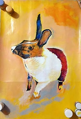 Rabbit Painting by Ankita Pisat