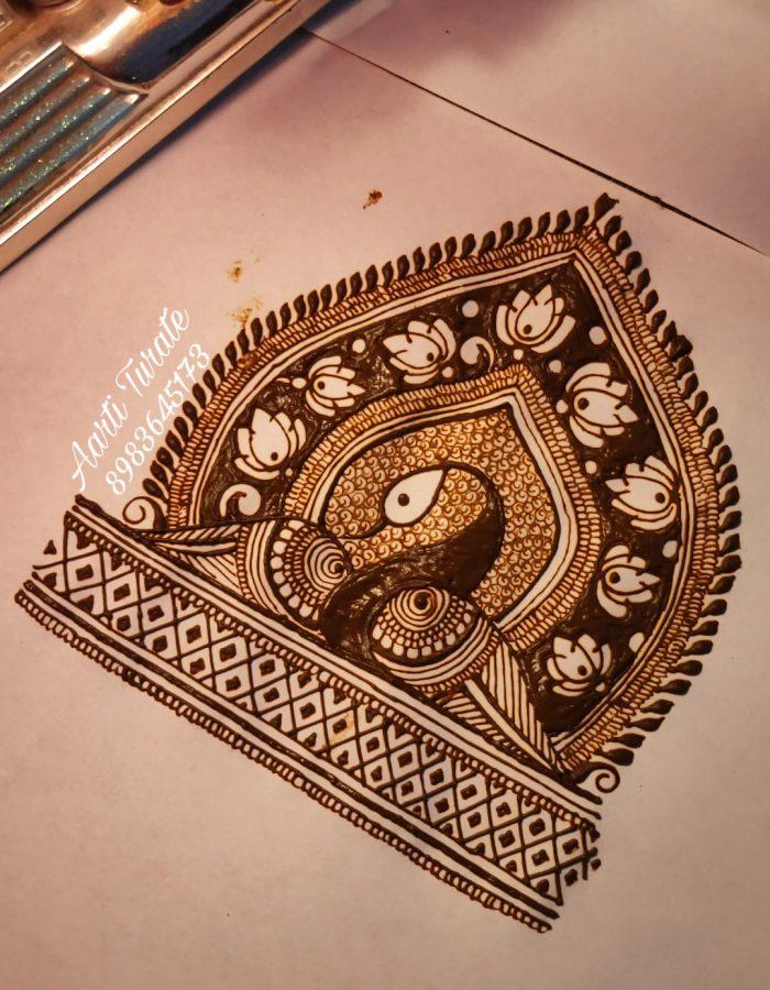 Tile Mehendi Art By Aarti Turate